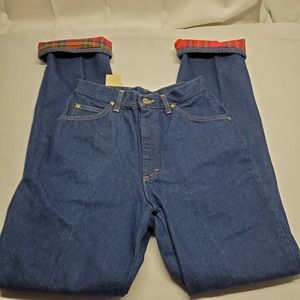 Vintage LL Bean Flannel Lined Jeans Sz 10 USA Made